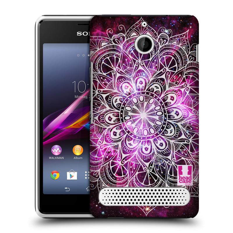 Plastové pouzdro na mobil Sony Xperia E1 D2005 HEAD CASE Mandala Doodle Nebula (Kryt či obal na mobilní telefon Sony Xperia E1 a E1 Dual)