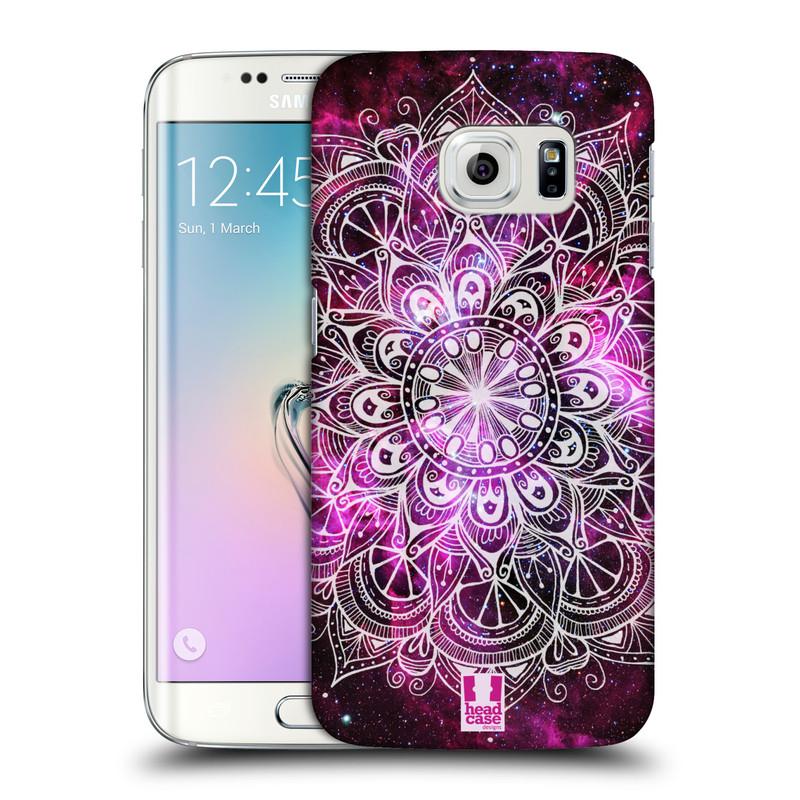 Plastové pouzdro na mobil Samsung Galaxy S6 Edge HEAD CASE Mandala Doodle Nebula (Kryt či obal na mobilní telefon Samsung Galaxy S6 Edge SM-G925F)