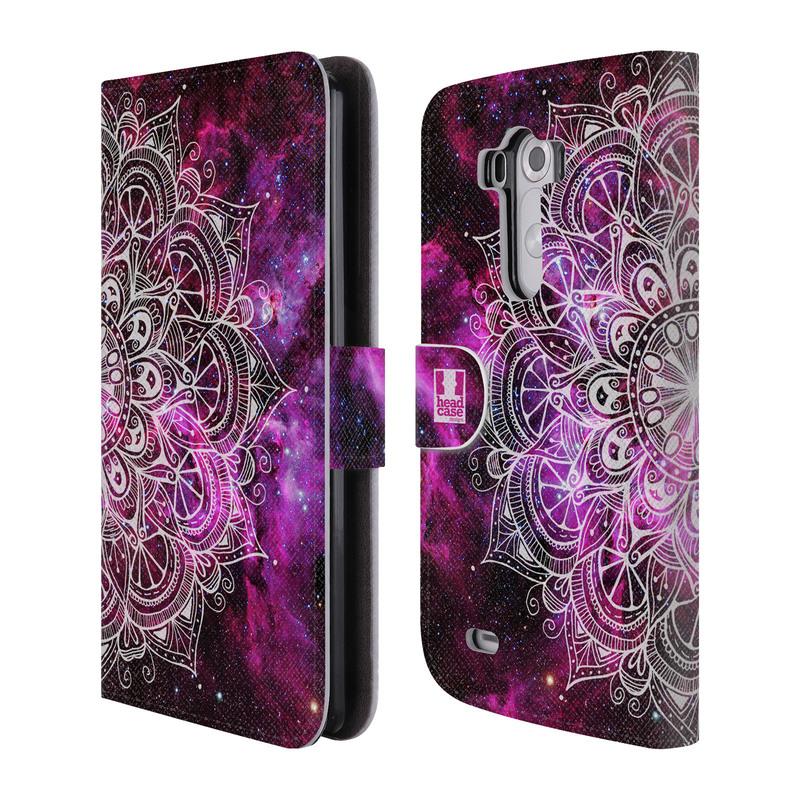 Flipové pouzdro na mobil LG G3 HEAD CASE Mandala Doodle Nebula (Flipový vyklápěcí kryt či obal z umělé kůže na mobilní telefon LG G3 D855)