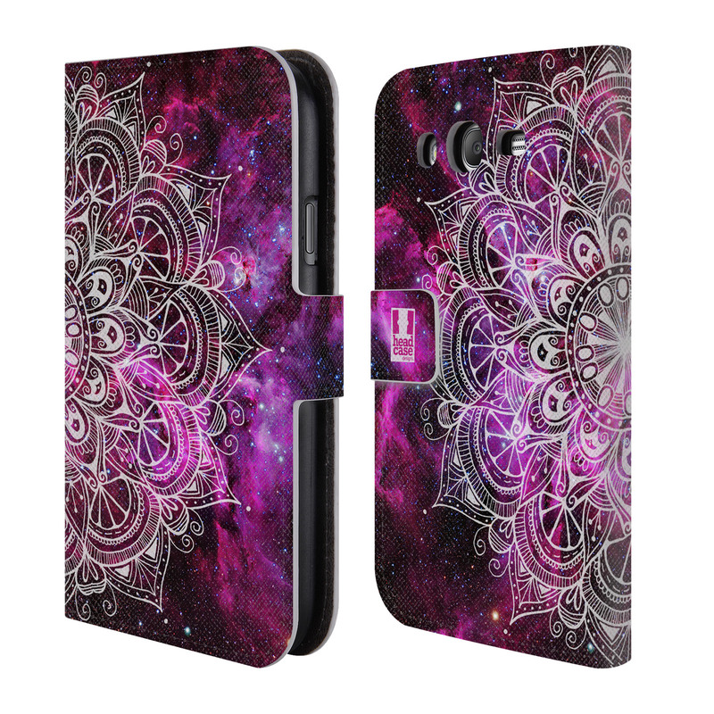 Flipové pouzdro na mobil Samsung Galaxy Grand Neo Plus HEAD CASE Mandala Doodle Nebula (Flipový vyklápěcí kryt či obal z umělé kůže na mobilní telefon Samsung Galaxy Grand Neo Plus Duos GT-I9060I)
