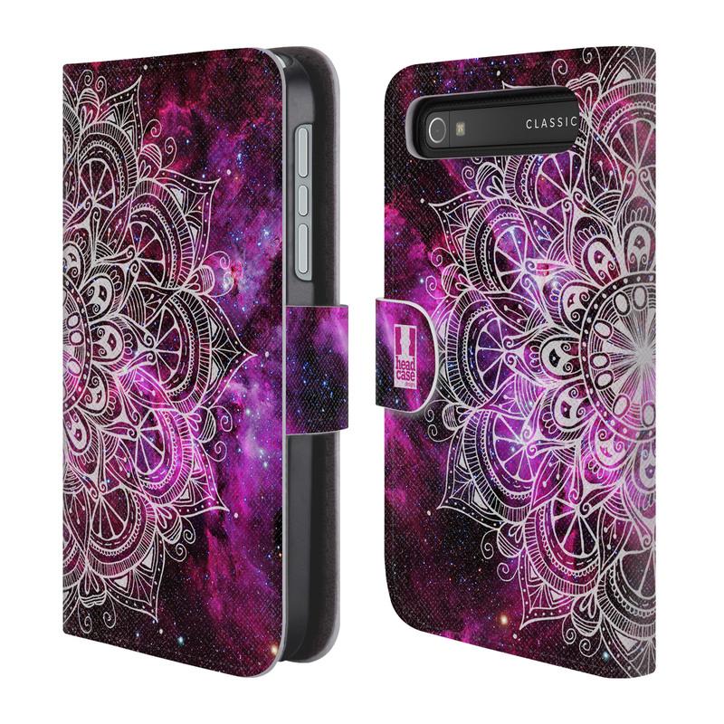 Flipové pouzdro na mobil Blackberry Classic HEAD CASE Mandala Doodle Nebula (Flipový vyklápěcí kryt či obal z umělé kůže na mobilní telefon Blackberry Classic)