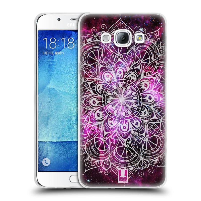 Silikonové pouzdro na mobil Samsung Galaxy A8 HEAD CASE Mandala Doodle Nebula (Silikonový kryt či obal na mobilní telefon Samsung Galaxy A8 SM-A800)