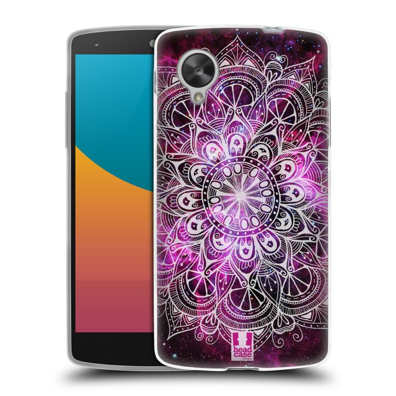 Silikonové pouzdro na mobil LG Nexus 5 HEAD CASE Mandala Doodle Nebula (Silikonový kryt či obal na mobilní telefon LG Google Nexus 5 D821)