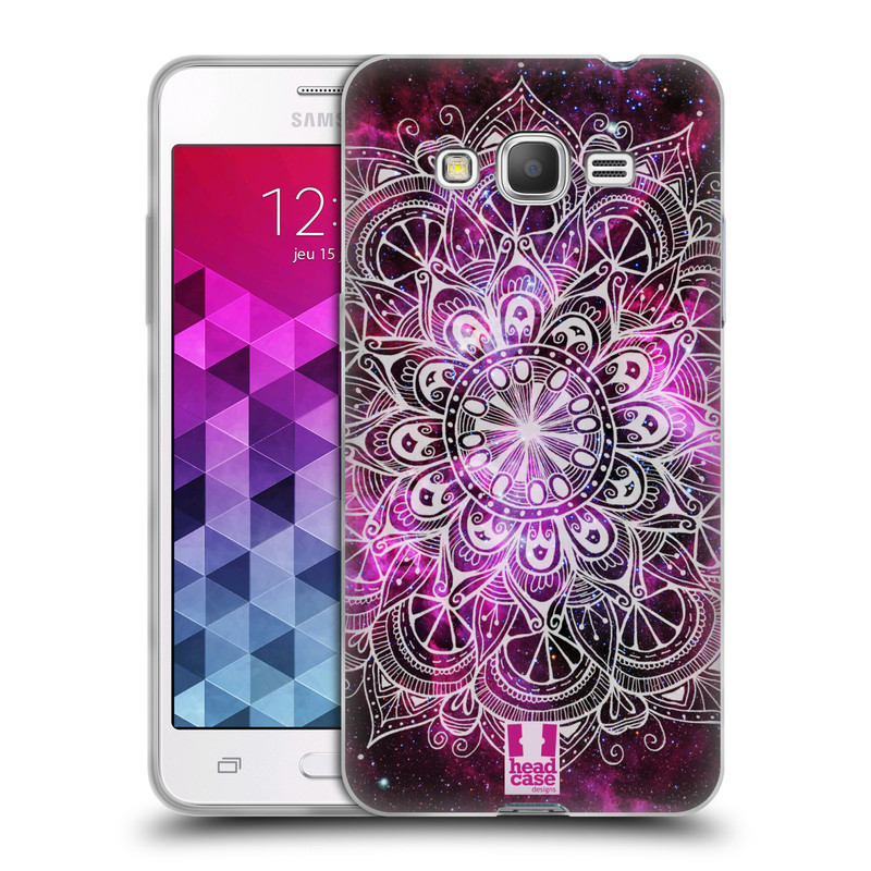 Silikonové pouzdro na mobil Samsung Galaxy Grand Prime HEAD CASE Mandala Doodle Nebula (Silikonový kryt či obal na mobilní telefon Samsung Galaxy Grand Prime SM-G530)