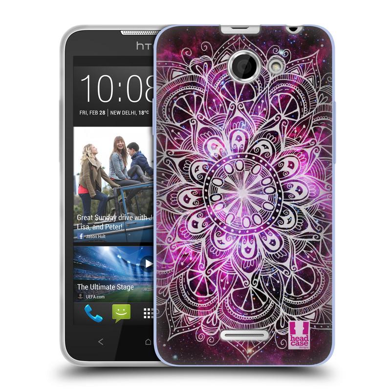 Silikonové pouzdro na mobil HTC Desire 516 HEAD CASE Mandala Doodle Nebula (Silikonový kryt či obal na mobilní telefon HTC Desire 516 Dual SIM)