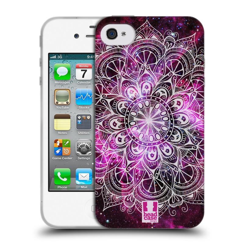 Silikonové pouzdro na mobil Apple iPhone 4 a 4S HEAD CASE Mandala Doodle Nebula (Silikonový kryt či obal na mobilní telefon Apple iPhone 4 a 4S)