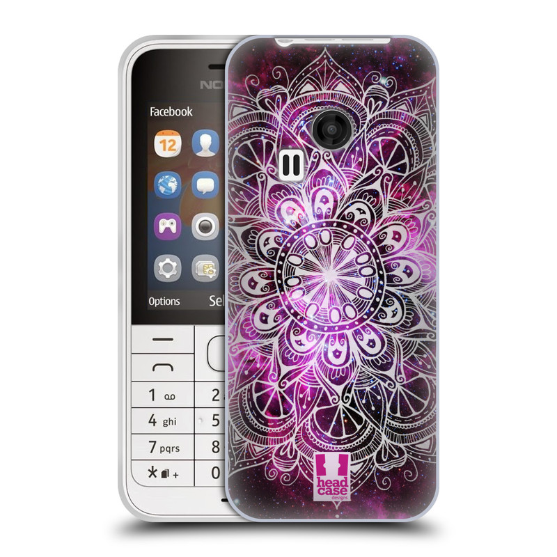 Silikonové pouzdro na mobil Nokia 220 HEAD CASE Mandala Doodle Nebula (Silikonový kryt či obal na mobilní telefon Nokia 220 a 220 Dual SIM)