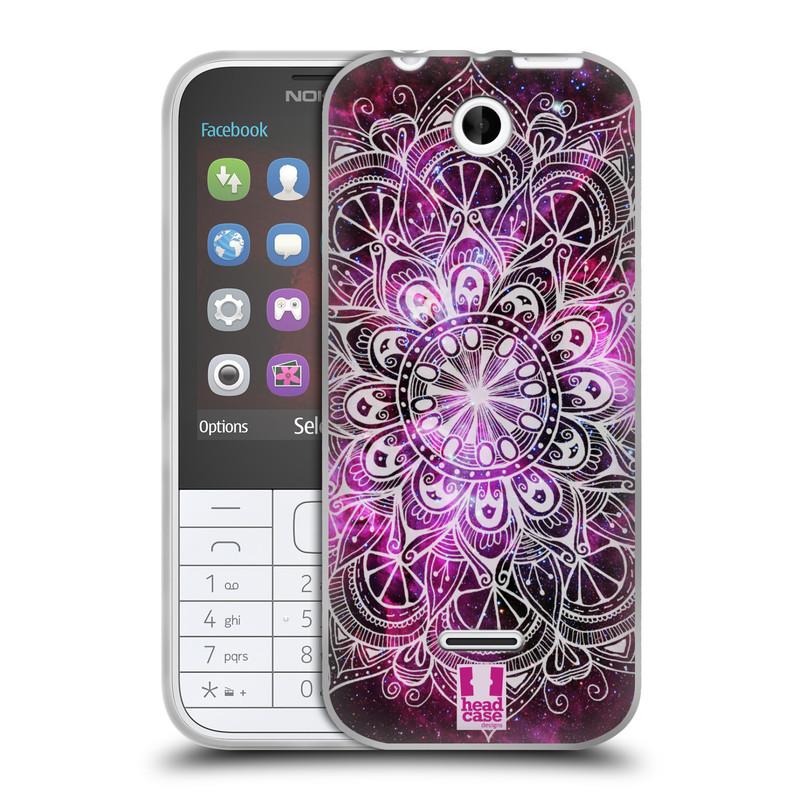 Silikonové pouzdro na mobil Nokia 225 HEAD CASE Mandala Doodle Nebula (Silikonový kryt či obal na mobilní telefon Nokia 225)