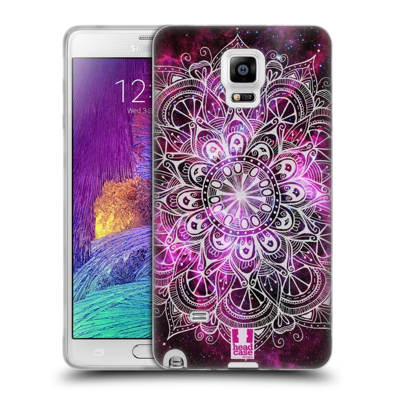 Silikonové pouzdro na mobil Samsung Galaxy Note 4 HEAD CASE Mandala Doodle Nebula (Silikonový kryt či obal na mobilní telefon Samsung Galaxy Note 4 SM-N910F)