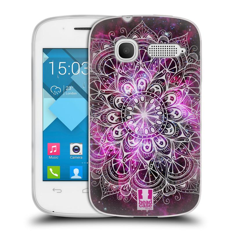 Silikonové pouzdro na mobil Alcatel One Touch Pop C1 HEAD CASE Mandala Doodle Nebula (Silikonový kryt či obal na mobilní telefon Alcatel OT-4015D POP C1)