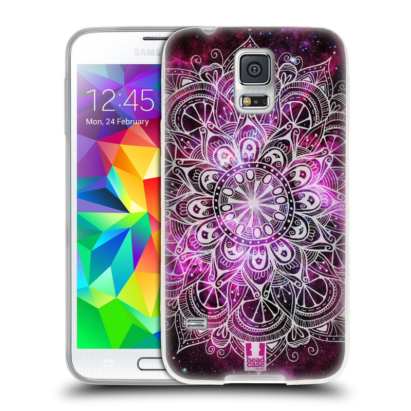 Silikonové pouzdro na mobil Samsung Galaxy S5 HEAD CASE Mandala Doodle Nebula (Silikonový kryt či obal na mobilní telefon Samsung Galaxy S5 SM-G900F)