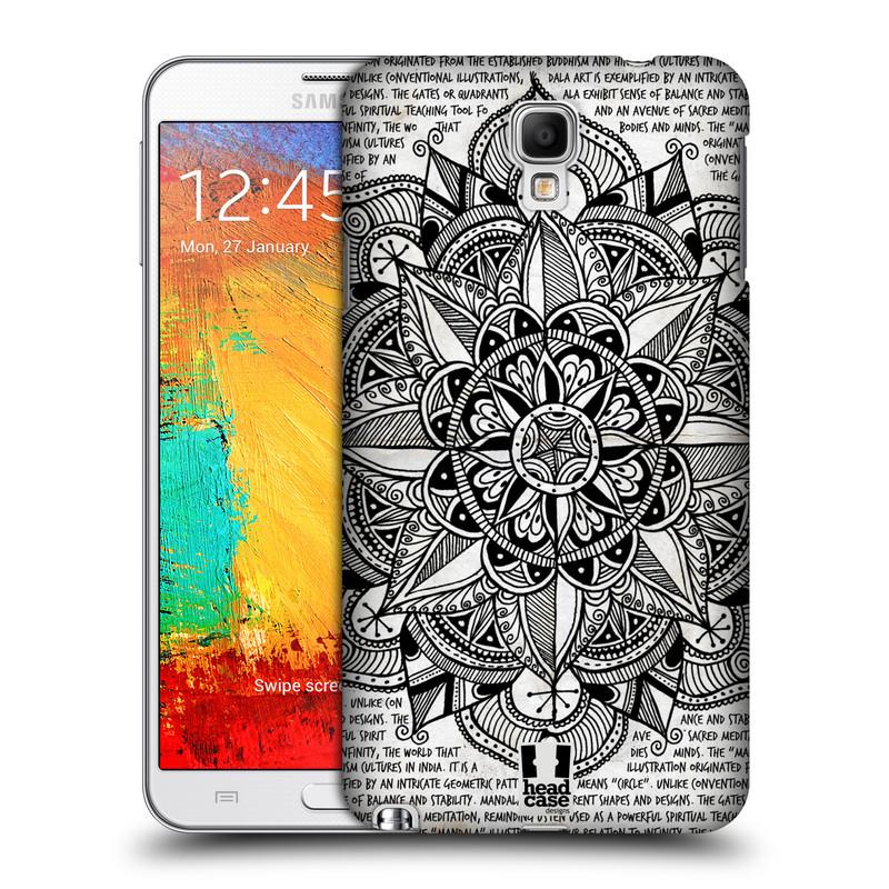 Plastové pouzdro na mobil Samsung Galaxy Note 3 Neo HEAD CASE Mandala Doodle Paper (Kryt či obal na mobilní telefon Samsung Galaxy Note 3 Neo SM-N7505)