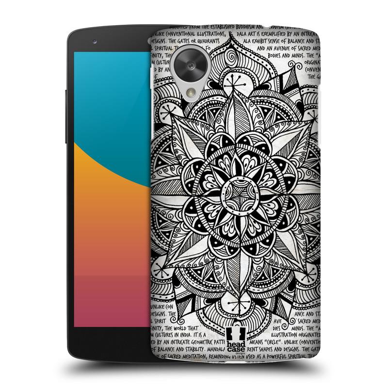 Plastové pouzdro na mobil LG Nexus 5 HEAD CASE Mandala Doodle Paper (Kryt či obal na mobilní telefon LG Google Nexus 5 D821)