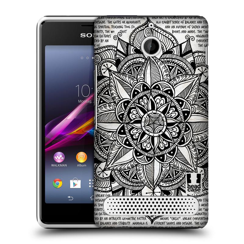 Plastové pouzdro na mobil Sony Xperia E1 D2005 HEAD CASE Mandala Doodle Paper (Kryt či obal na mobilní telefon Sony Xperia E1 a E1 Dual)