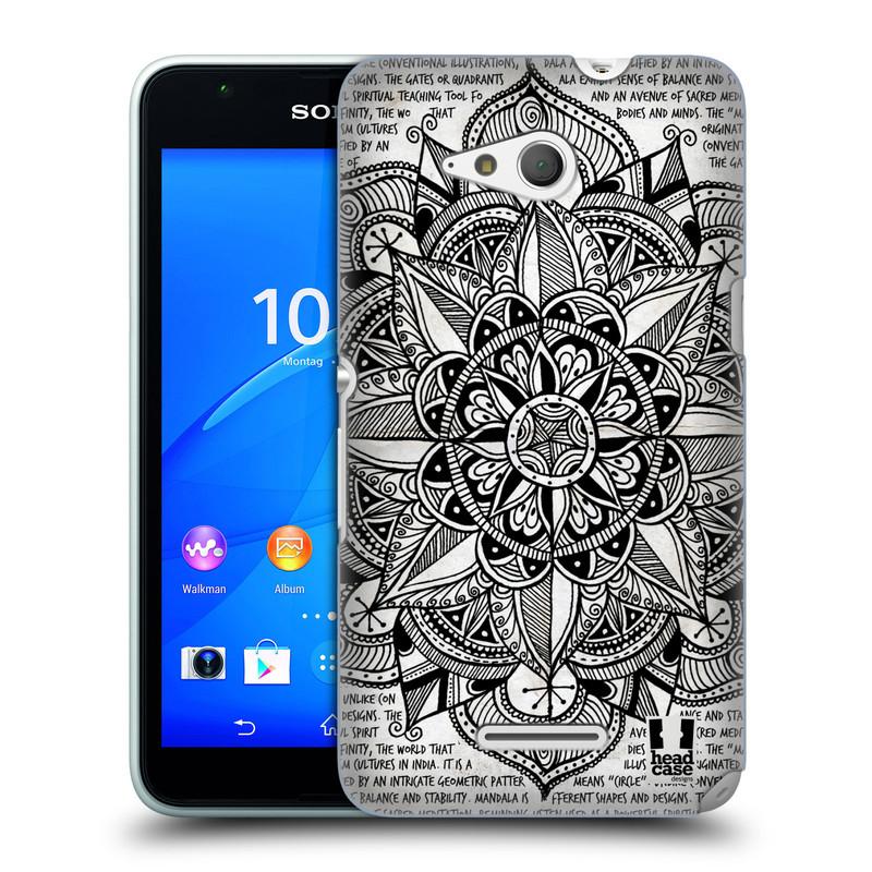 Plastové pouzdro na mobil Sony Xperia E4g E2003 HEAD CASE Mandala Doodle Paper (Kryt či obal na mobilní telefon Sony Xperia E4g a E4g Dual SIM)