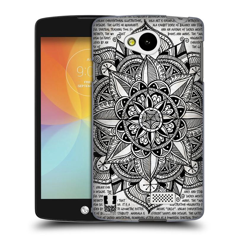 Plastové pouzdro na mobil LG F60 HEAD CASE Mandala Doodle Paper (Kryt či obal na mobilní telefon LG F60 D390n)