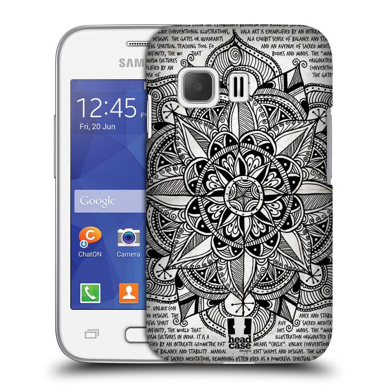 Plastové pouzdro na mobil Samsung Galaxy Young 2 HEAD CASE Mandala Doodle Paper (Kryt či obal na mobilní telefon Samsung Galaxy Young 2 SM-G130)