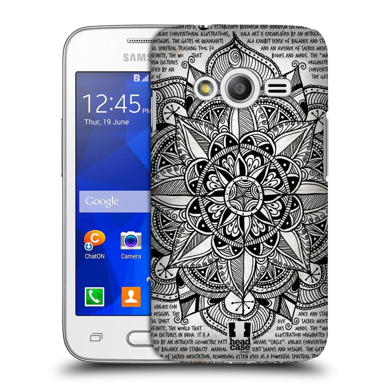 Plastové pouzdro na mobil Samsung Galaxy Trend 2 Lite HEAD CASE Mandala Doodle Paper (Kryt či obal na mobilní telefon Samsung Galaxy Trend 2 Lite SM-G318)
