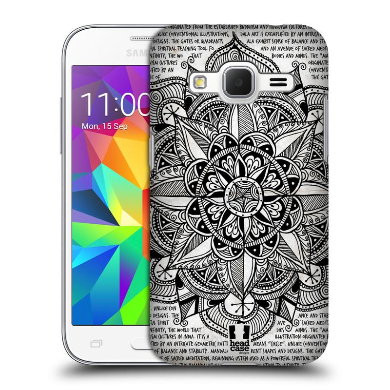 Plastové pouzdro na mobil Samsung Galaxy Core Prime LTE HEAD CASE Mandala Doodle Paper (Kryt či obal na mobilní telefon Samsung Galaxy Core Prime LTE SM-G360)