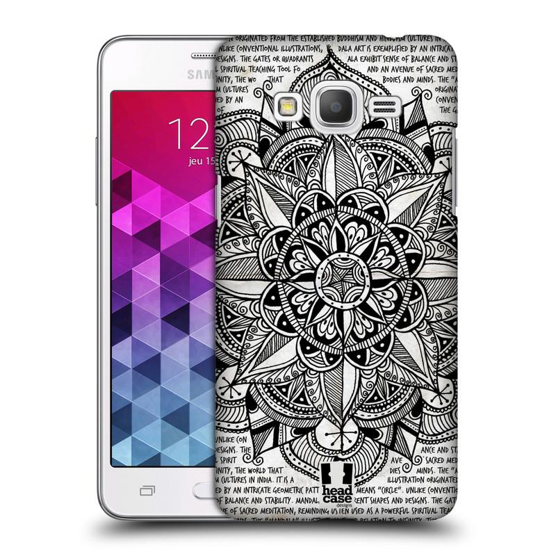 Plastové pouzdro na mobil Samsung Galaxy Grand Prime HEAD CASE Mandala Doodle Paper (Kryt či obal na mobilní telefon Samsung Galaxy Grand Prime SM-G530)