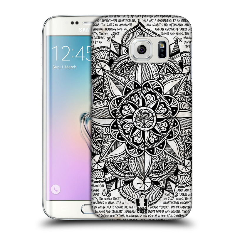 Plastové pouzdro na mobil Samsung Galaxy S6 Edge HEAD CASE Mandala Doodle Paper (Kryt či obal na mobilní telefon Samsung Galaxy S6 Edge SM-G925F)
