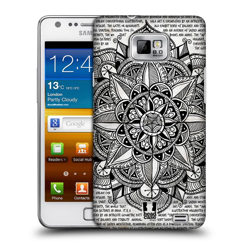 Plastové pouzdro na mobil Samsung Galaxy S II HEAD CASE Mandala Doodle Paper (Kryt či obal na mobilní telefon Samsung Galaxy S II GT-i9100)