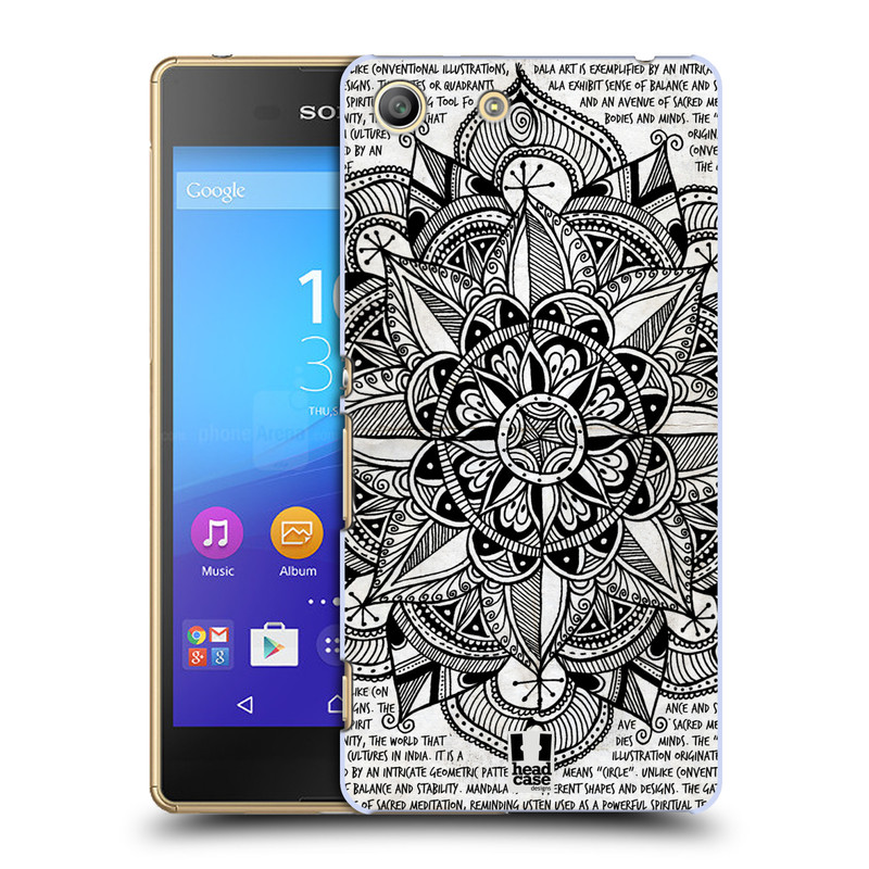 Plastové pouzdro na mobil Sony Xperia M5 HEAD CASE Mandala Doodle Paper (Kryt či obal na mobilní telefon Sony Xperia M5 Aqua)
