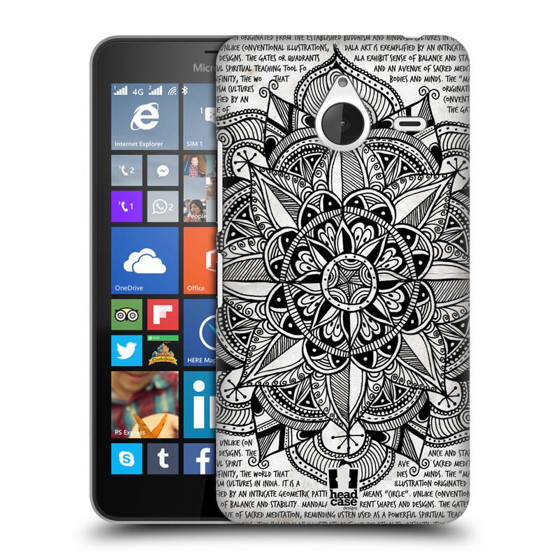 Plastové pouzdro na mobil Microsoft Lumia 640 XL HEAD CASE Mandala Doodle Paper (Kryt či obal na mobilní telefon Microsoft Lumia 640 XL)