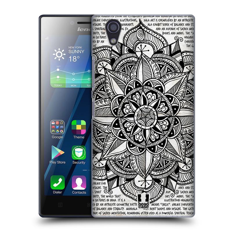 Plastové pouzdro na mobil Lenovo P70 HEAD CASE Mandala Doodle Paper (Kryt či obal na mobilní telefon Lenovo P70)