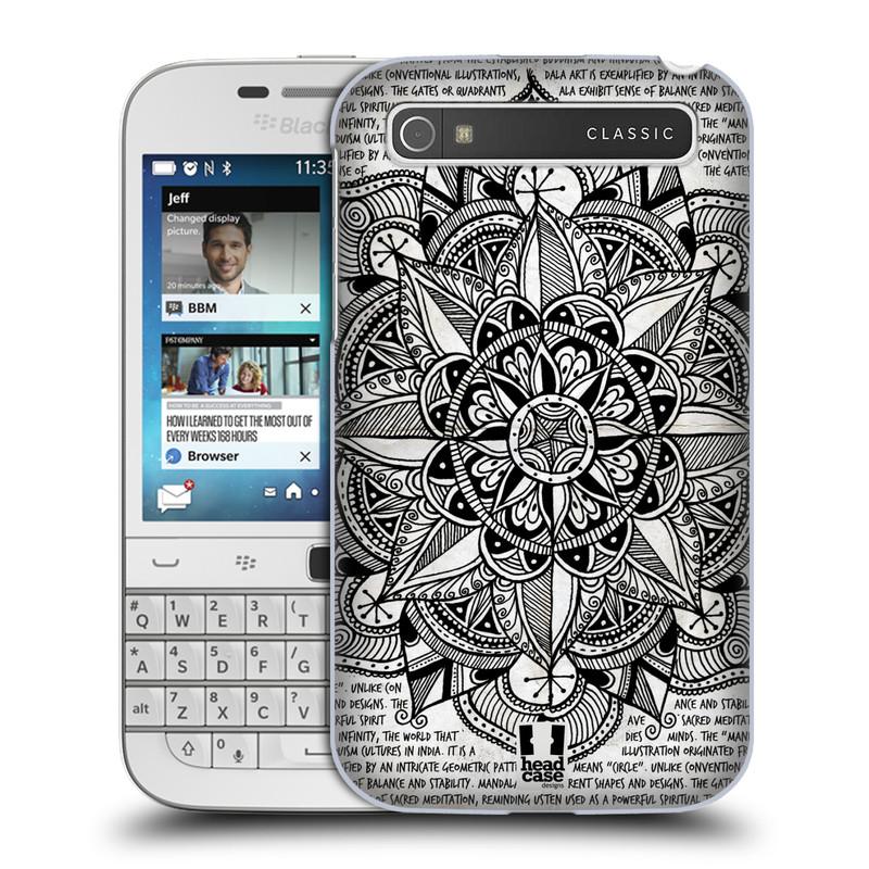 Plastové pouzdro na mobil Blackberry Classic HEAD CASE Mandala Doodle Paper (Kryt či obal na mobilní telefon Blackberry Classic)