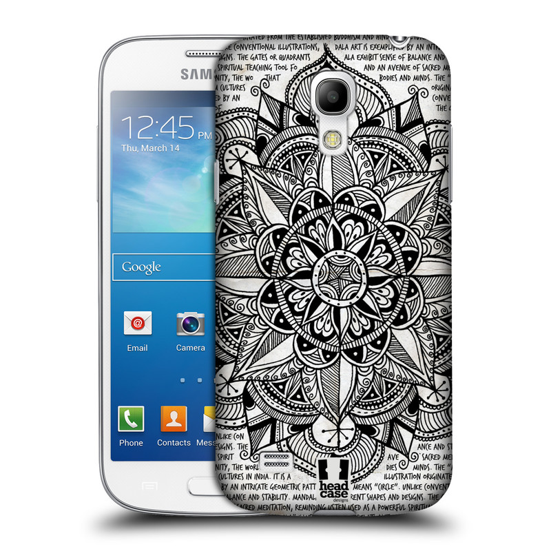 Plastové pouzdro na mobil Samsung Galaxy S4 Mini HEAD CASE Mandala Doodle Paper (Kryt či obal na mobilní telefon Samsung Galaxy S4 Mini GT-i9195 / i9190)