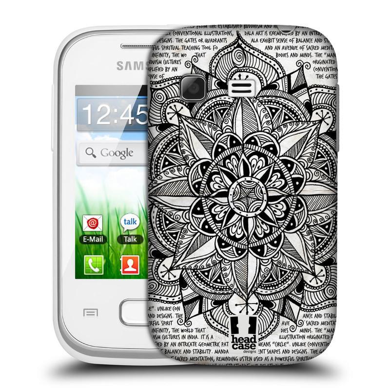 Plastové pouzdro na mobil Samsung Galaxy Pocket HEAD CASE Mandala Doodle Paper (Kryt či obal na mobilní telefon Samsung Galaxy Pocket GT-S5300)