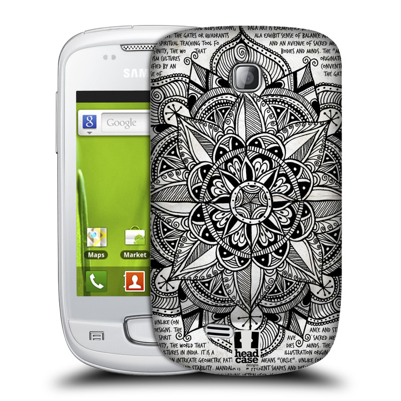 Plastové pouzdro na mobil Samsung Galaxy Mini HEAD CASE Mandala Doodle Paper (Kryt či obal na mobilní telefon Samsung Galaxy Mini GT-S5570 / GT-S5570i)