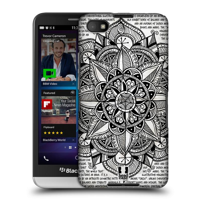 Plastové pouzdro na mobil Blackberry Z30 HEAD CASE Mandala Doodle Paper (Kryt či obal na mobilní telefon Blackberry Z30)