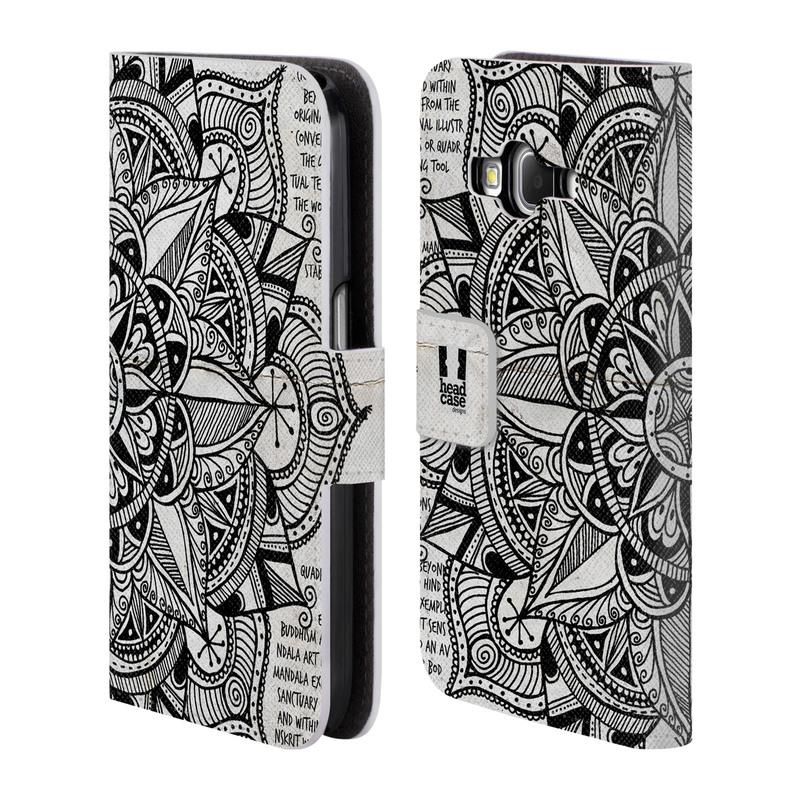Flipové pouzdro na mobil Samsung Galaxy Core Prime LTE HEAD CASE Mandala Doodle Paper (Flipový vyklápěcí kryt či obal z umělé kůže na mobilní telefon Samsung Galaxy Core Prime LTE SM-G360)