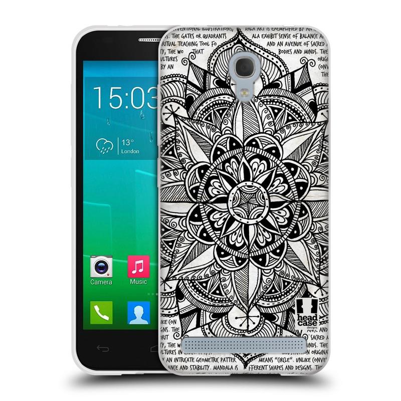 Silikonové pouzdro na mobil Alcatel One Touch Idol 2 Mini S 6036Y HEAD CASE Mandala Doodle Paper (Silikonový kryt či obal na mobilní telefon Alcatel Idol 2 Mini S OT-6036Y)