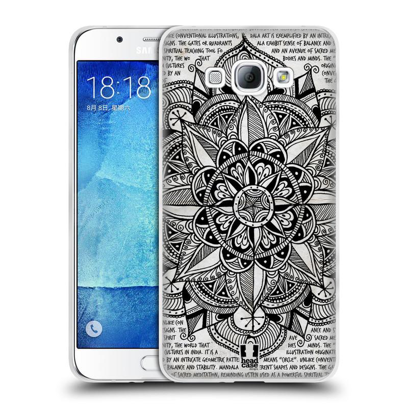 Silikonové pouzdro na mobil Samsung Galaxy A8 HEAD CASE Mandala Doodle Paper (Silikonový kryt či obal na mobilní telefon Samsung Galaxy A8 SM-A800)