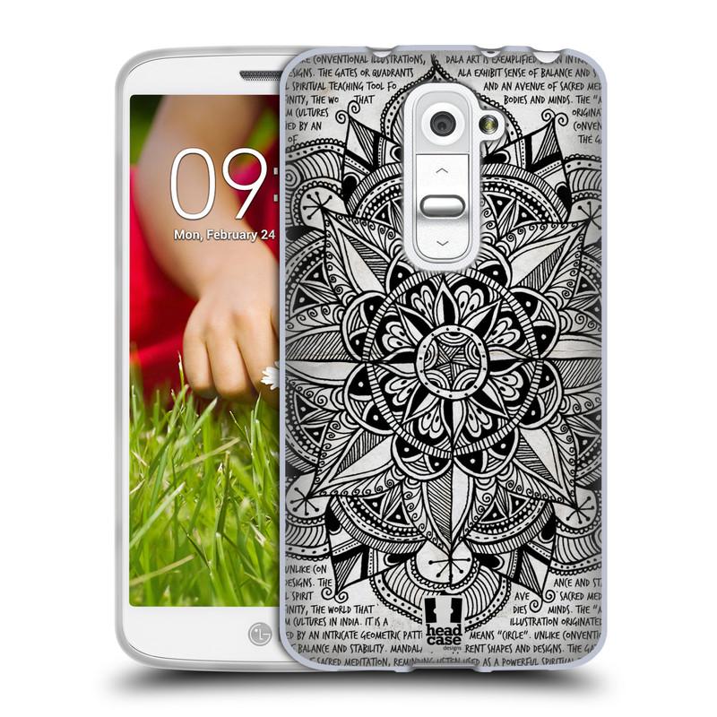 Silikonové pouzdro na mobil LG G2 Mini HEAD CASE Mandala Doodle Paper (Silikonový kryt či obal na mobilní telefon LG G2 Mini D620)