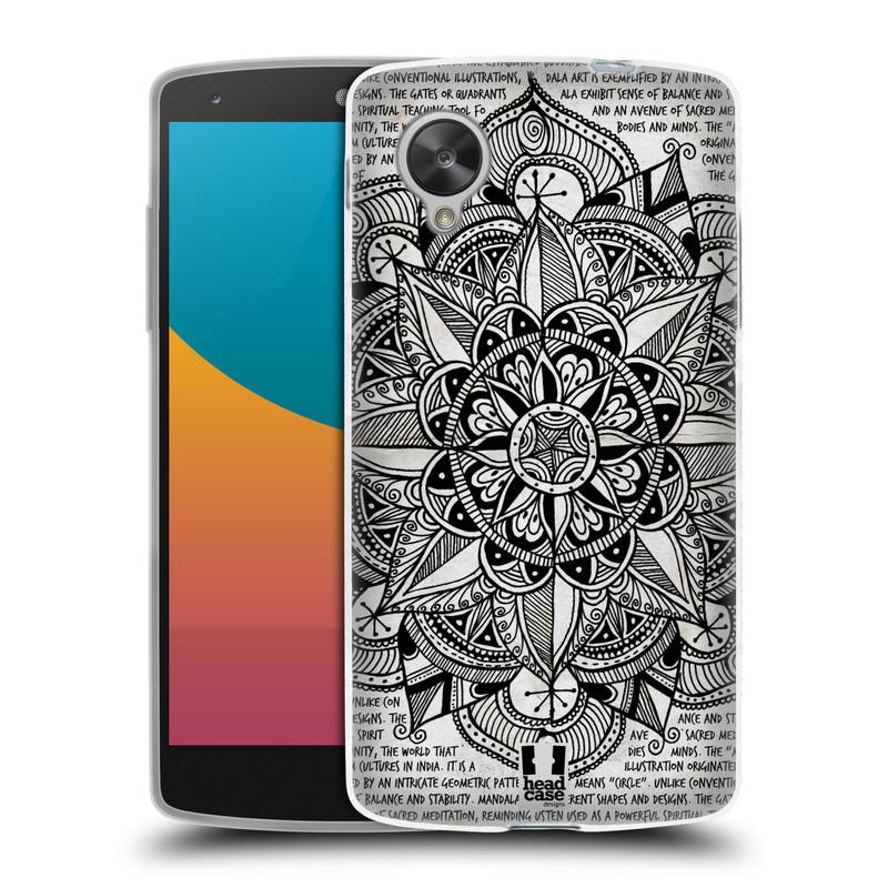 Silikonové pouzdro na mobil LG Nexus 5 HEAD CASE Mandala Doodle Paper (Silikonový kryt či obal na mobilní telefon LG Google Nexus 5 D821)