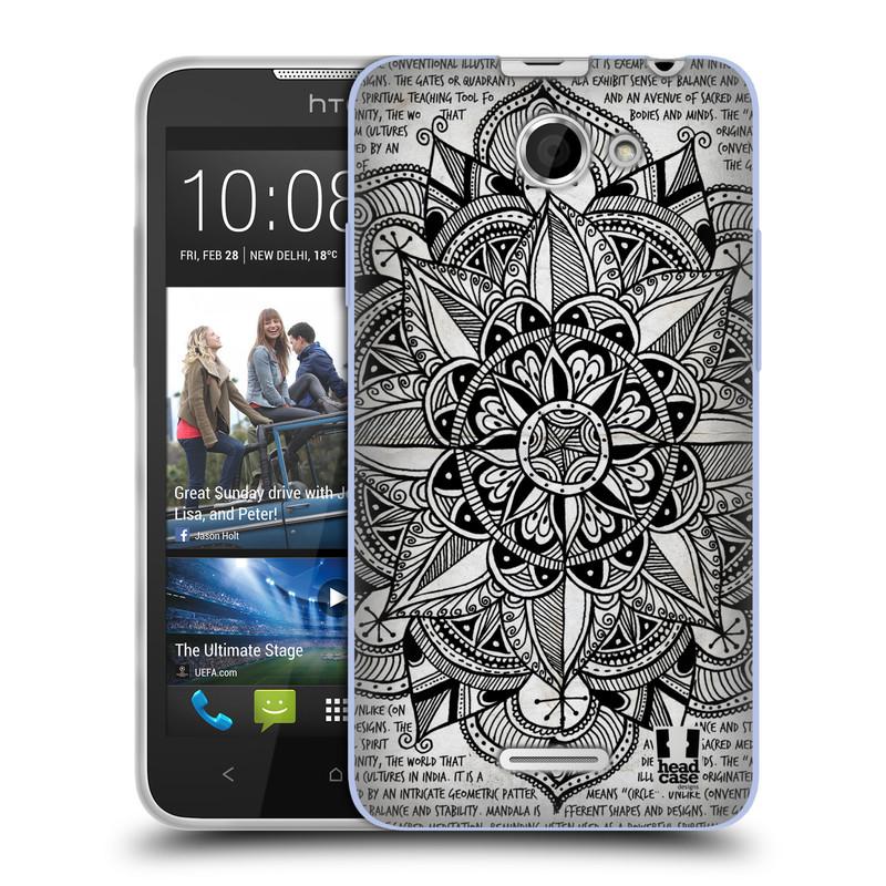 Silikonové pouzdro na mobil HTC Desire 516 HEAD CASE Mandala Doodle Paper (Silikonový kryt či obal na mobilní telefon HTC Desire 516 Dual SIM)