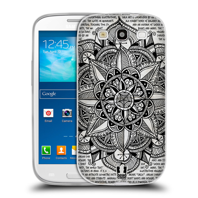 Silikonové pouzdro na mobil Samsung Galaxy S3 Neo HEAD CASE Mandala Doodle Paper (Silikonový kryt či obal na mobilní telefon Samsung Galaxy S3 Neo GT-i9301i)