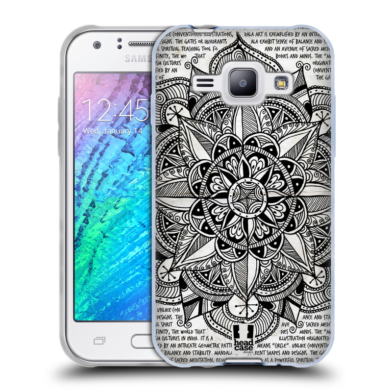 Silikonové pouzdro na mobil Samsung Galaxy J1 HEAD CASE Mandala Doodle Paper (Silikonový kryt či obal na mobilní telefon Samsung Galaxy J1 a J1 Duos)