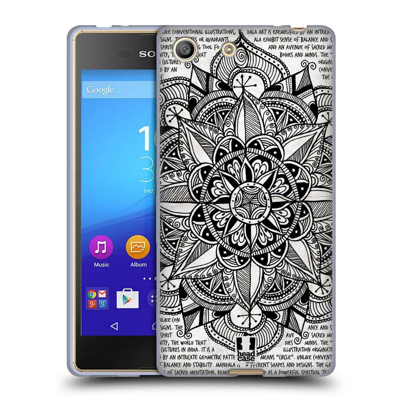 Silikonové pouzdro na mobil Sony Xperia M5 HEAD CASE Mandala Doodle Paper (Silikonový kryt či obal na mobilní telefon Sony Xperia M5 Dual SIM / Aqua)