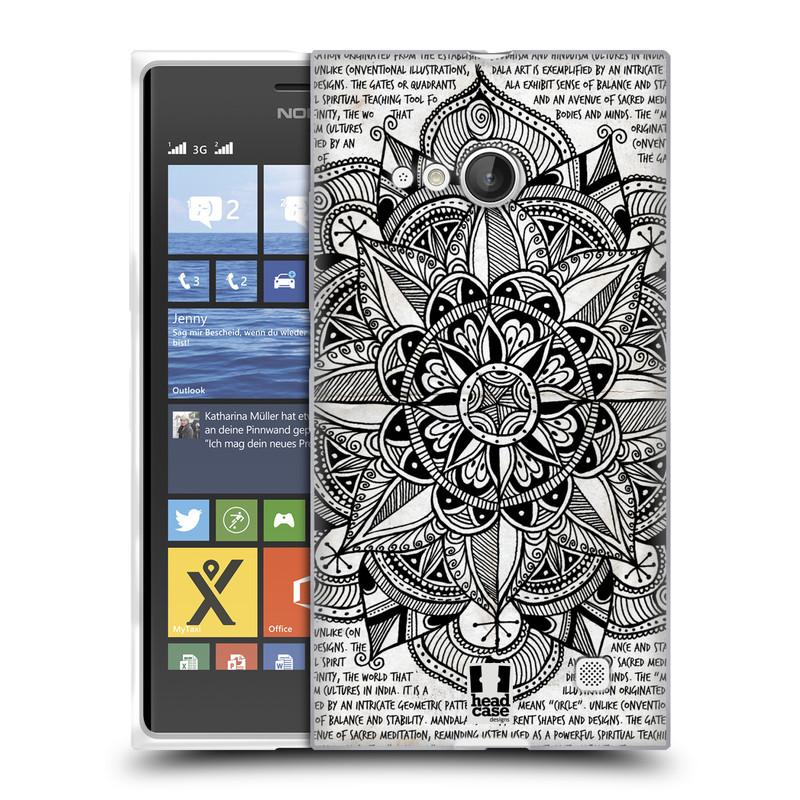 Silikonové pouzdro na mobil Nokia Lumia 730 Dual SIM HEAD CASE Mandala Doodle Paper (Silikonový kryt či obal na mobilní telefon Nokia Lumia 730 Dual SIM)