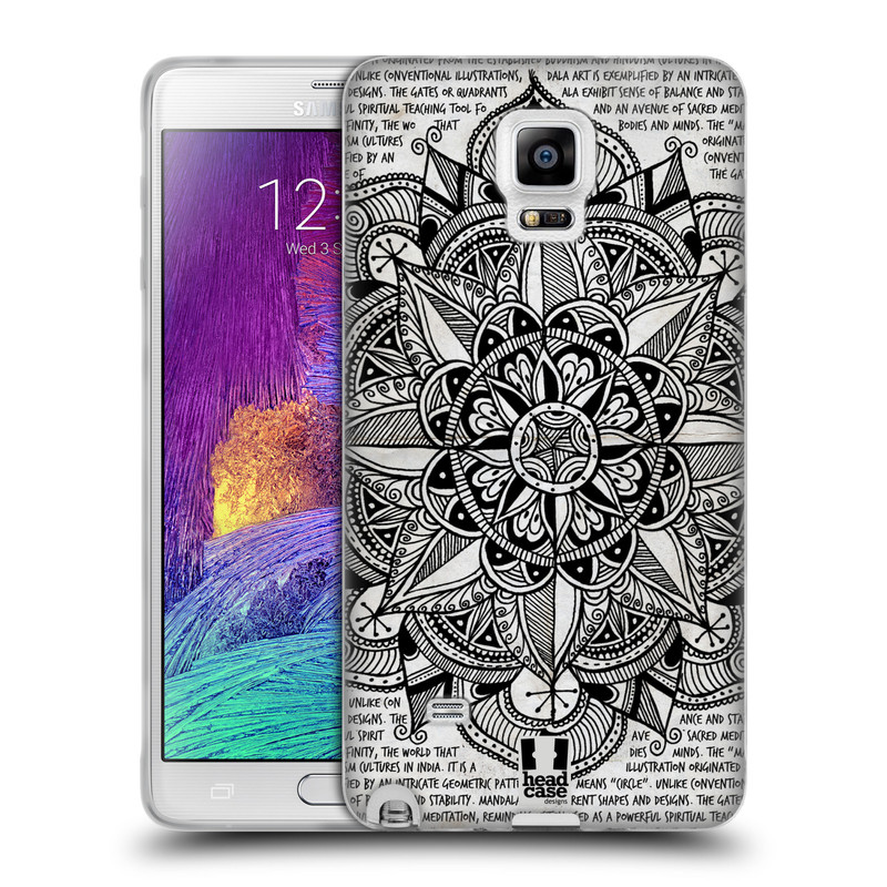 Silikonové pouzdro na mobil Samsung Galaxy Note 4 HEAD CASE Mandala Doodle Paper (Silikonový kryt či obal na mobilní telefon Samsung Galaxy Note 4 SM-N910F)