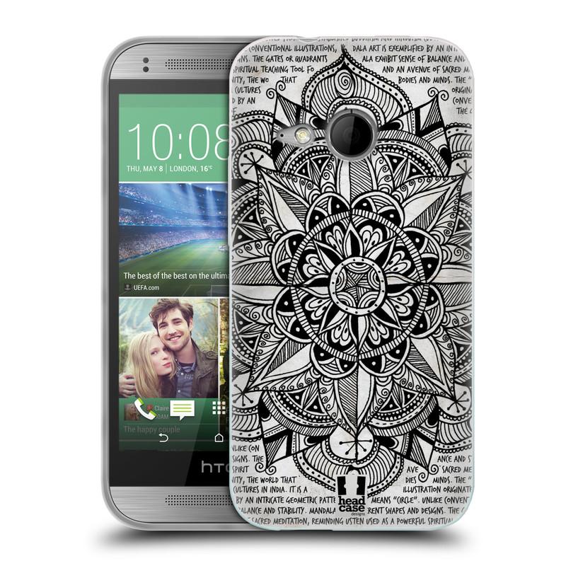 Silikonové pouzdro na mobil HTC ONE Mini 2 HEAD CASE Mandala Doodle Paper (Silikonový kryt či obal na mobilní telefon HTC ONE Mini 2)