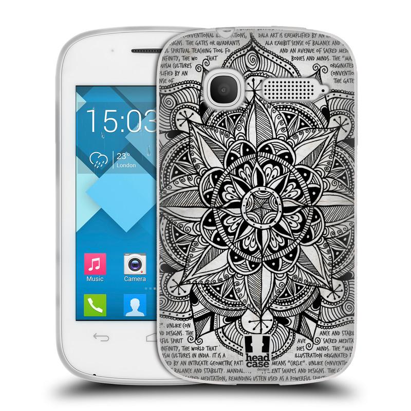 Silikonové pouzdro na mobil Alcatel One Touch Pop C1 HEAD CASE Mandala Doodle Paper (Silikonový kryt či obal na mobilní telefon Alcatel OT-4015D POP C1)