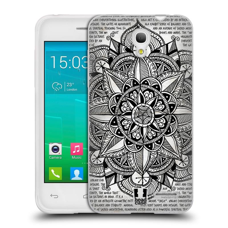Silikonové pouzdro na mobil Alcatel One Touch Pop S3 HEAD CASE Mandala Doodle Paper (Silikonový kryt či obal na mobilní telefon Alcatel OT- 5050Y POP S3)