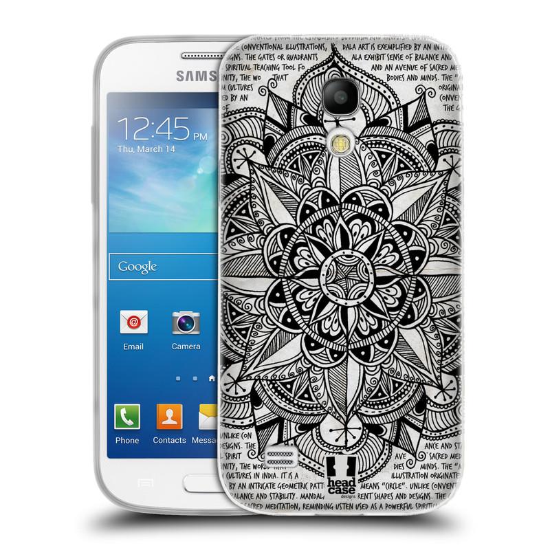 Silikonové pouzdro na mobil Samsung Galaxy S4 Mini HEAD CASE Mandala Doodle Paper (Silikonový kryt či obal na mobilní telefon Samsung Galaxy S4 Mini GT-i9195 / i9190)