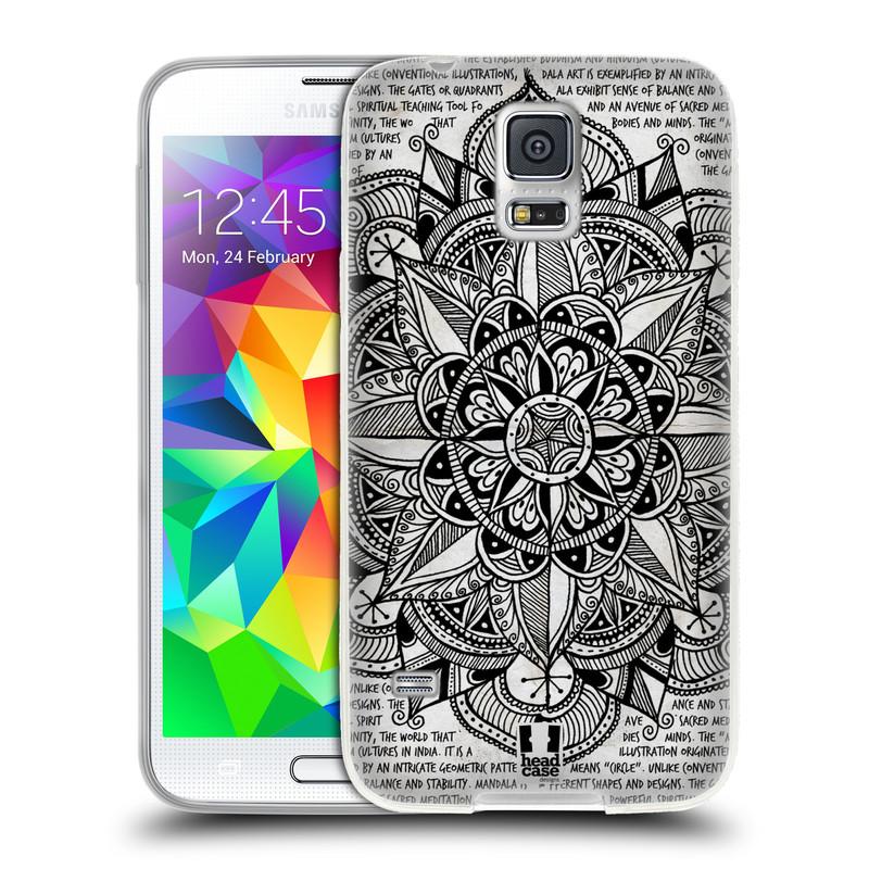 Silikonové pouzdro na mobil Samsung Galaxy S5 HEAD CASE Mandala Doodle Paper (Silikonový kryt či obal na mobilní telefon Samsung Galaxy S5 SM-G900F)